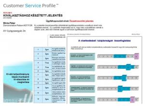 Customer Service - kompetencia - rátermettség